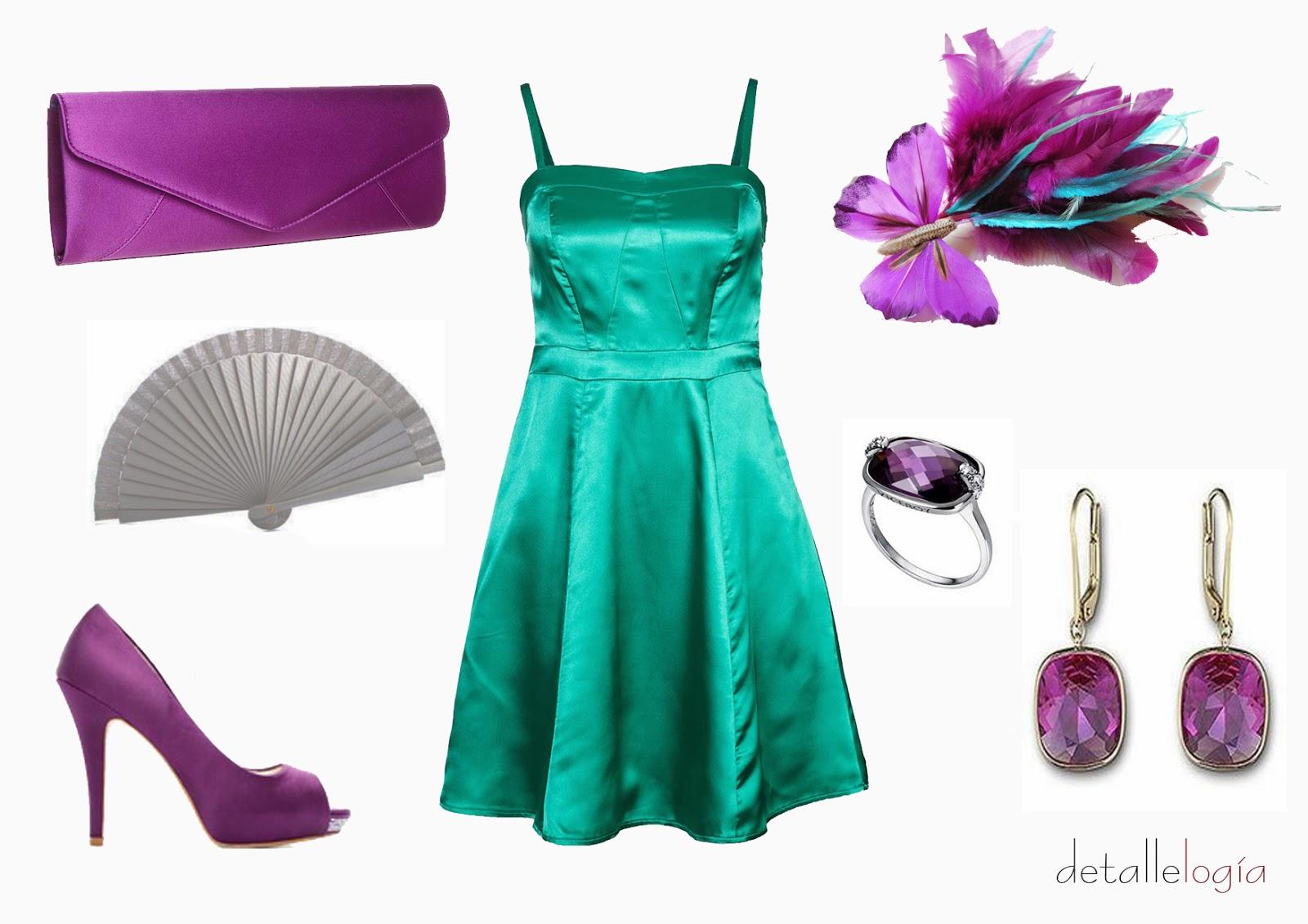 Combinar vestido verde botella para boda