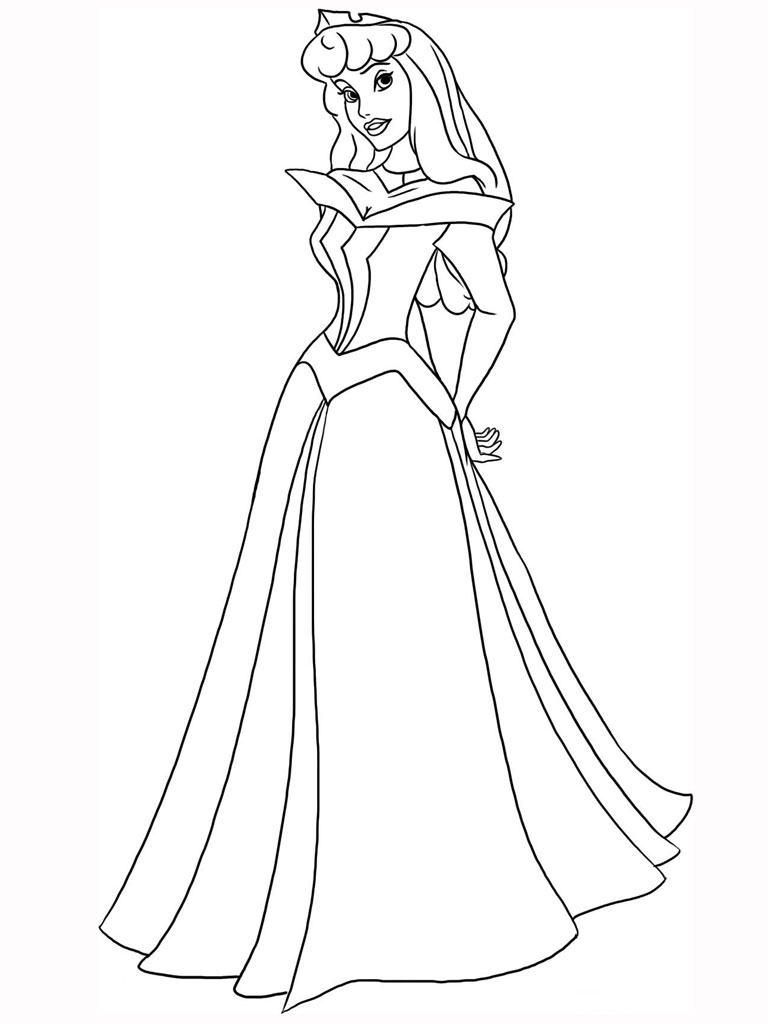Colouring Pages Princesses To Print : Free printable princess coloring pages