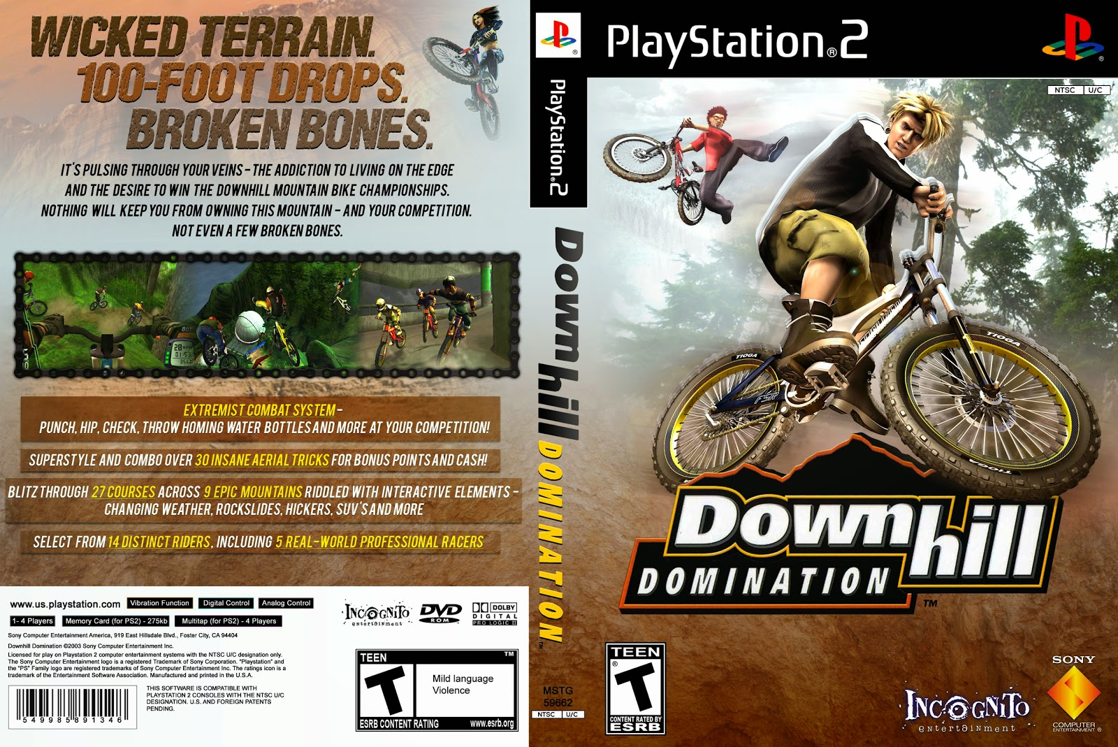 Capa Downhill Domination PS3