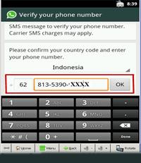 verifikasi nomor ponsel