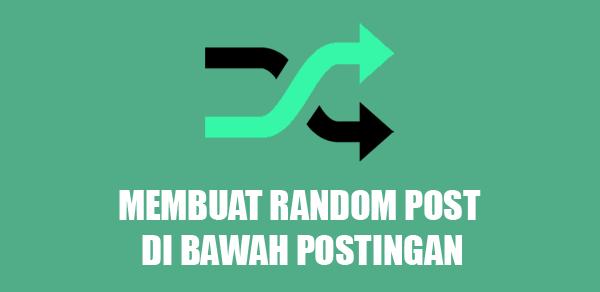 Membuat Widget Random Post Tanpa Thumbnail di Bawah Postingan