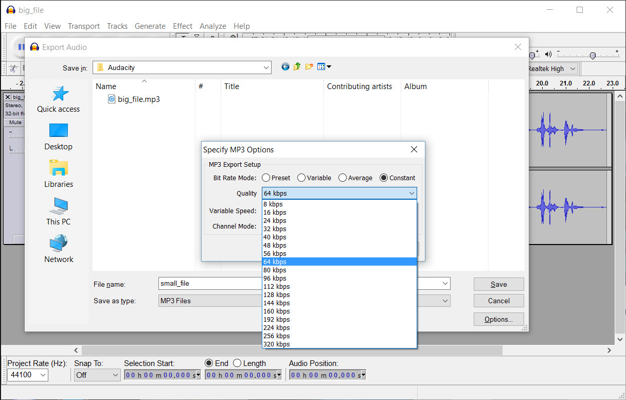 AppDemoStore Blog: HOW TO: Compress audio files with Audacity