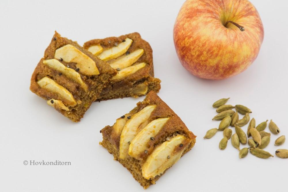 Apple Cardamom Cake, gf, non-dairy
