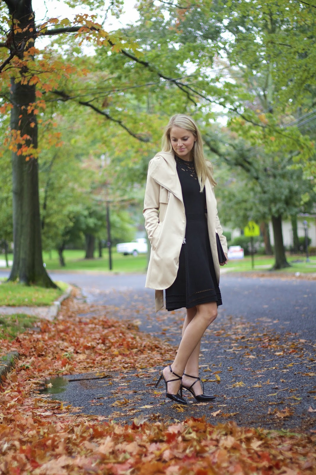 little black dress, lvd, wedding attire, hooded trench coat
