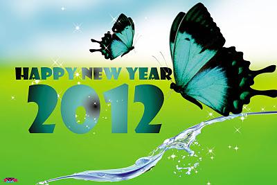 Kartu Ucapan Tahun Baru 2012 gokil
