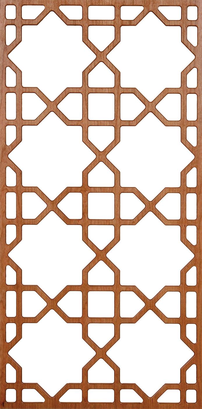 Marokkanische Muster Tapete : Baumwollstoff hellblau-wei?, marokkanisches Gitter