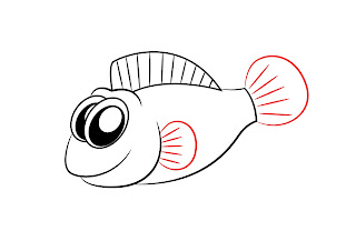 How To Draw A Cartoon Fish Step 4