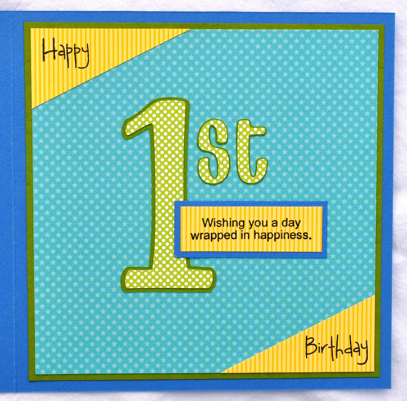 DATS My Style TJs 1st Birthday Card – Son 1st Birthday Card
