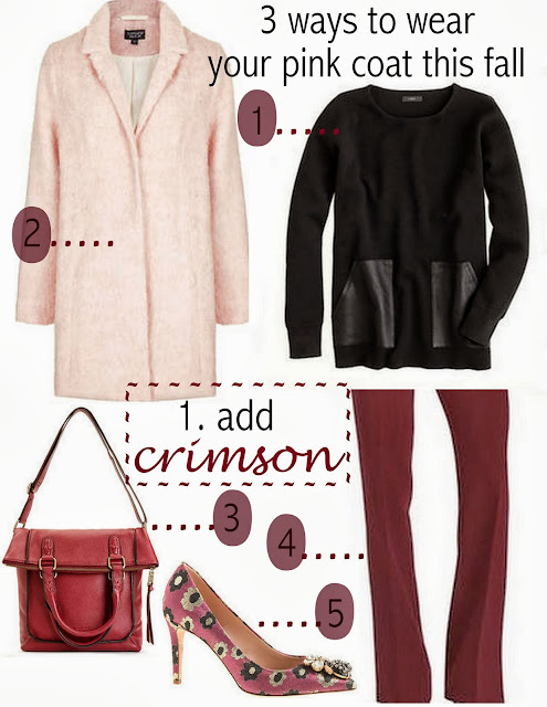 3 ways to wear your pink coat this fall
