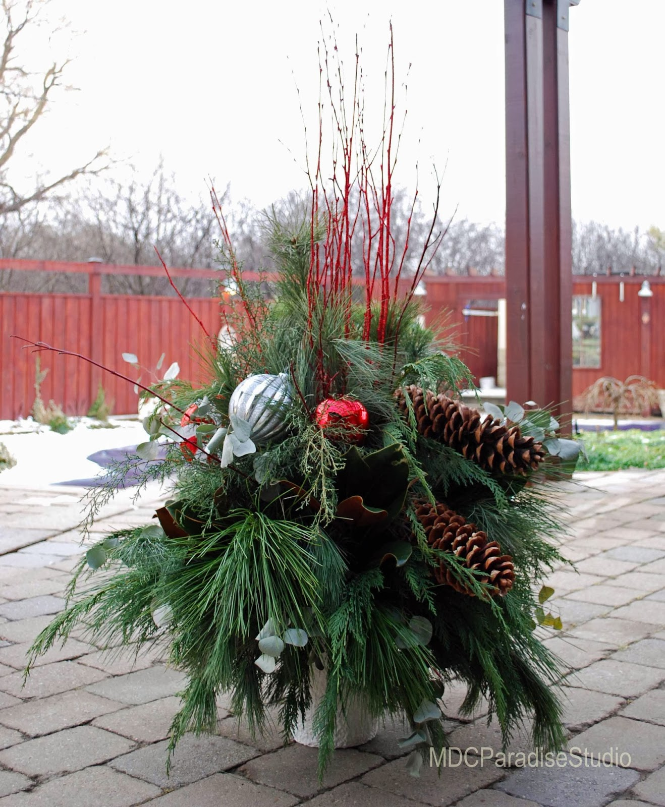 Decorating Ideas > PARADISE FLORAL STUDIO Decorating For The Holidays  ~ 085848_Christmas Decorating Ideas For Outdoor Planters