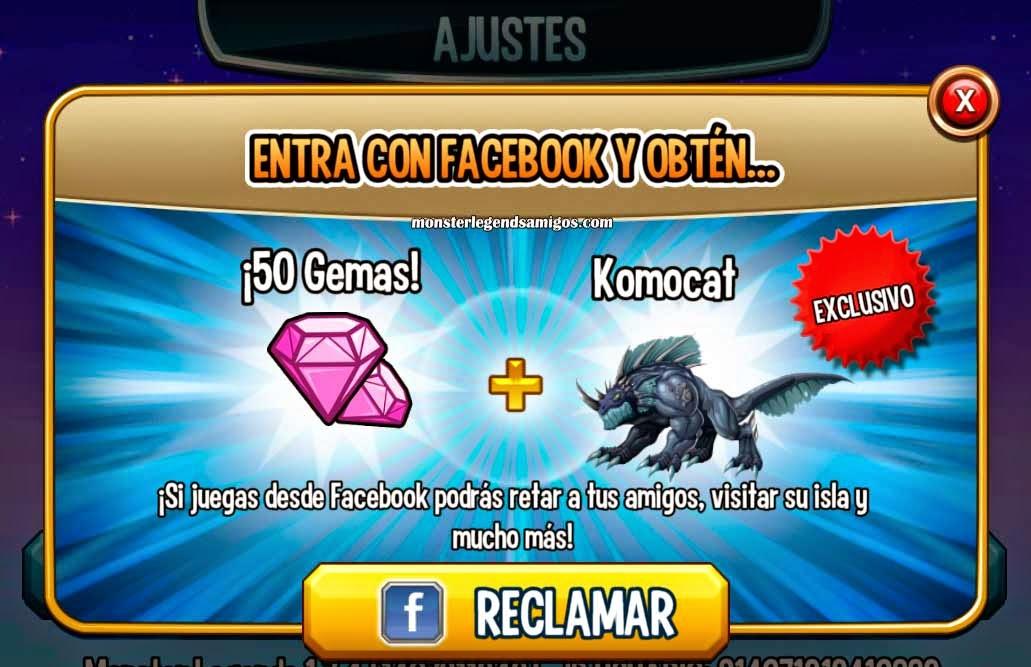 imagen de ganar gratis al monstruo komocat de monster legends