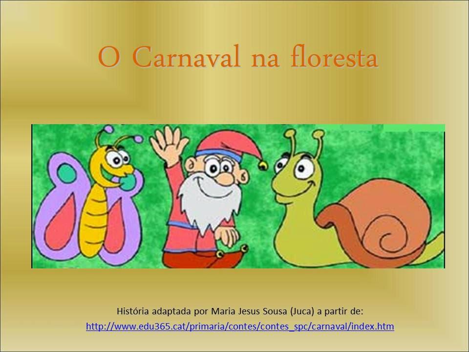 """Livro ilustrado """"O carnaval na floresta"""""""