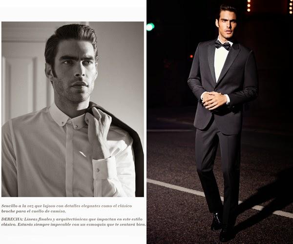 moda de noche hombre traje chaqueta negro H&M