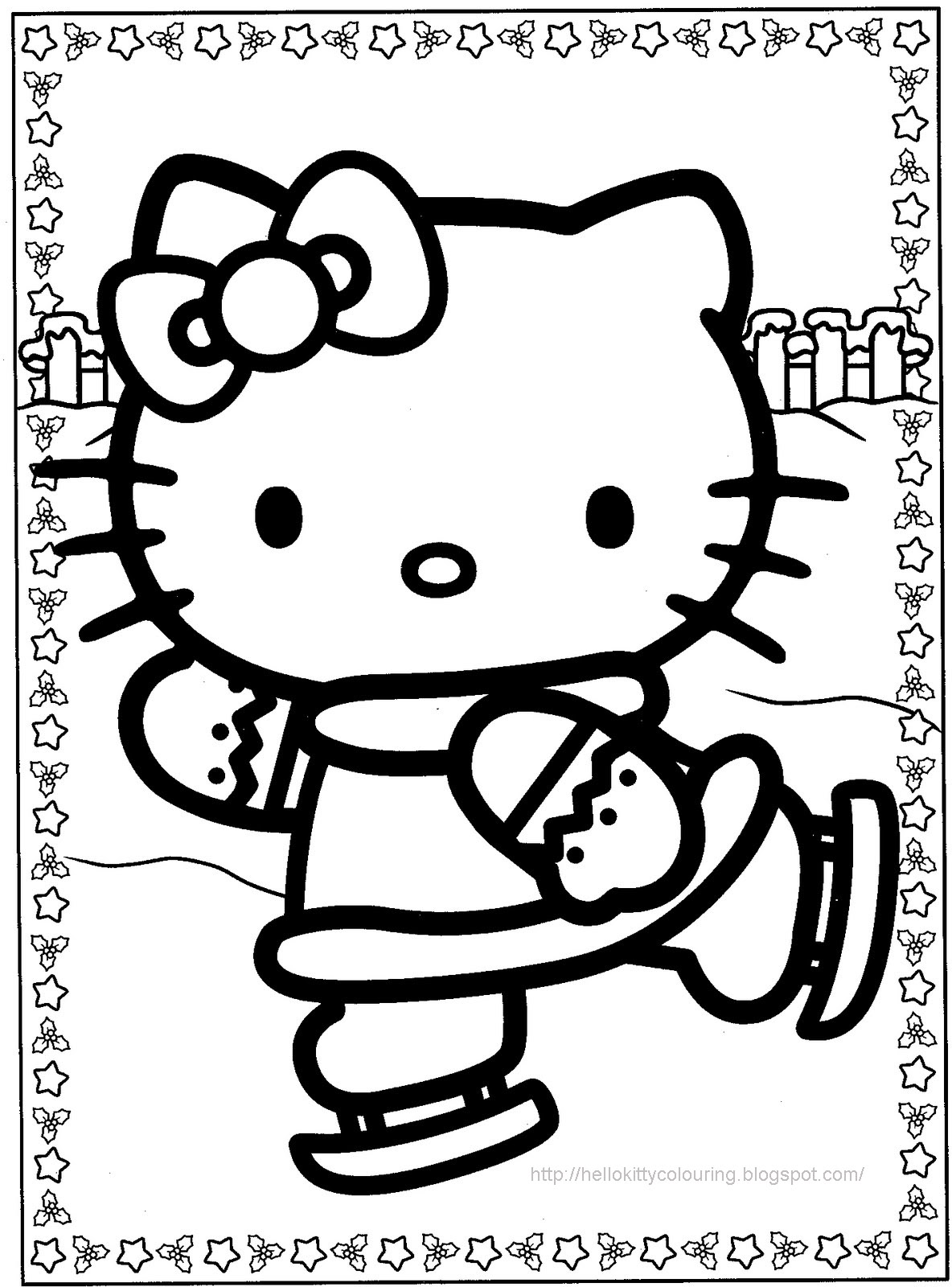 hello kitty holiday coloring pages - photo#22