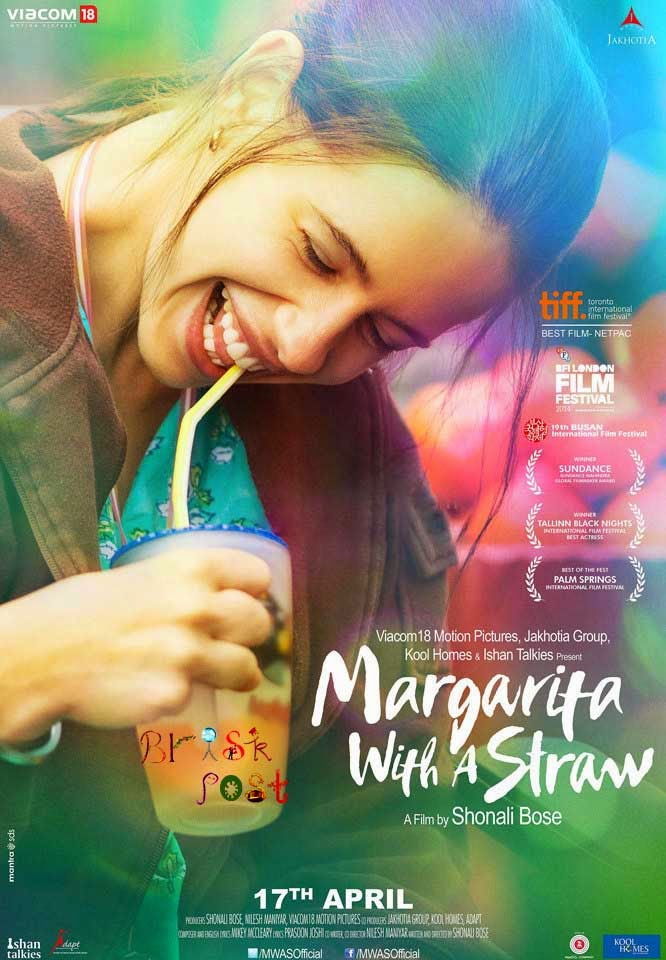 Smiling Kalki as Margarita in Margarita with a Straw movie poster