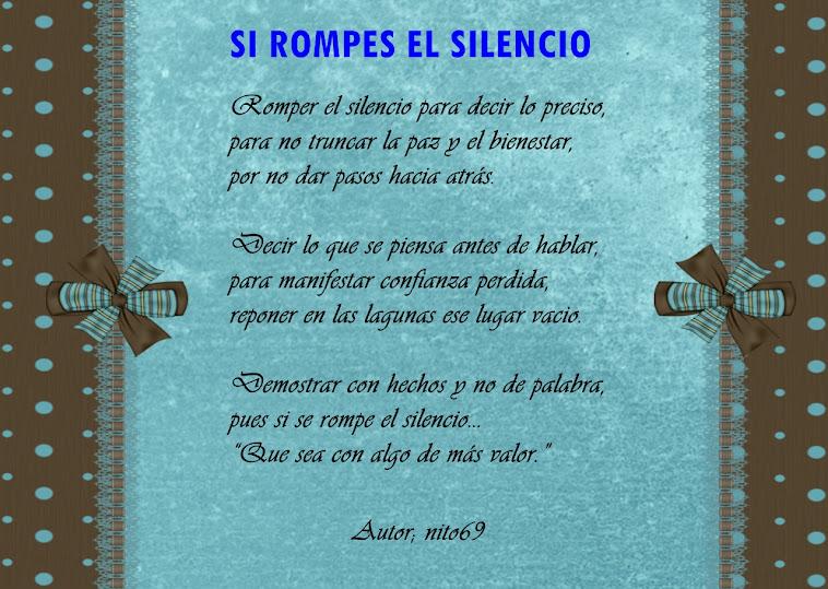SI ROMPES EL SILENCIO