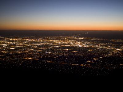 Albuquerque Sunset, Albuquerque At Night