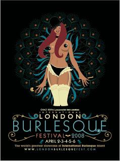 London Burlesque Festival poster