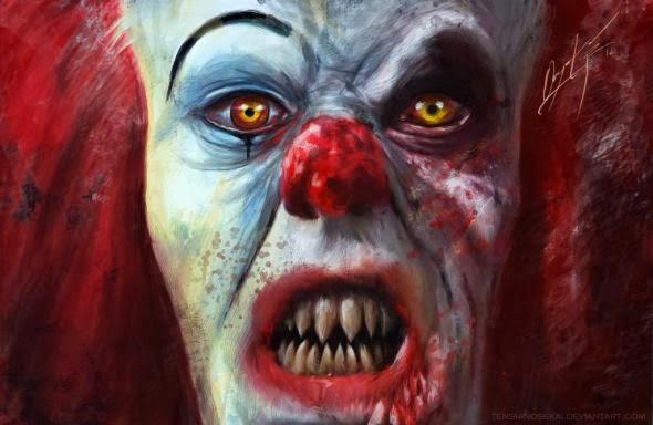 Angela Bermudez deviantart pinturas filmes cultura pop cinema It - Pennywise, o palhaço