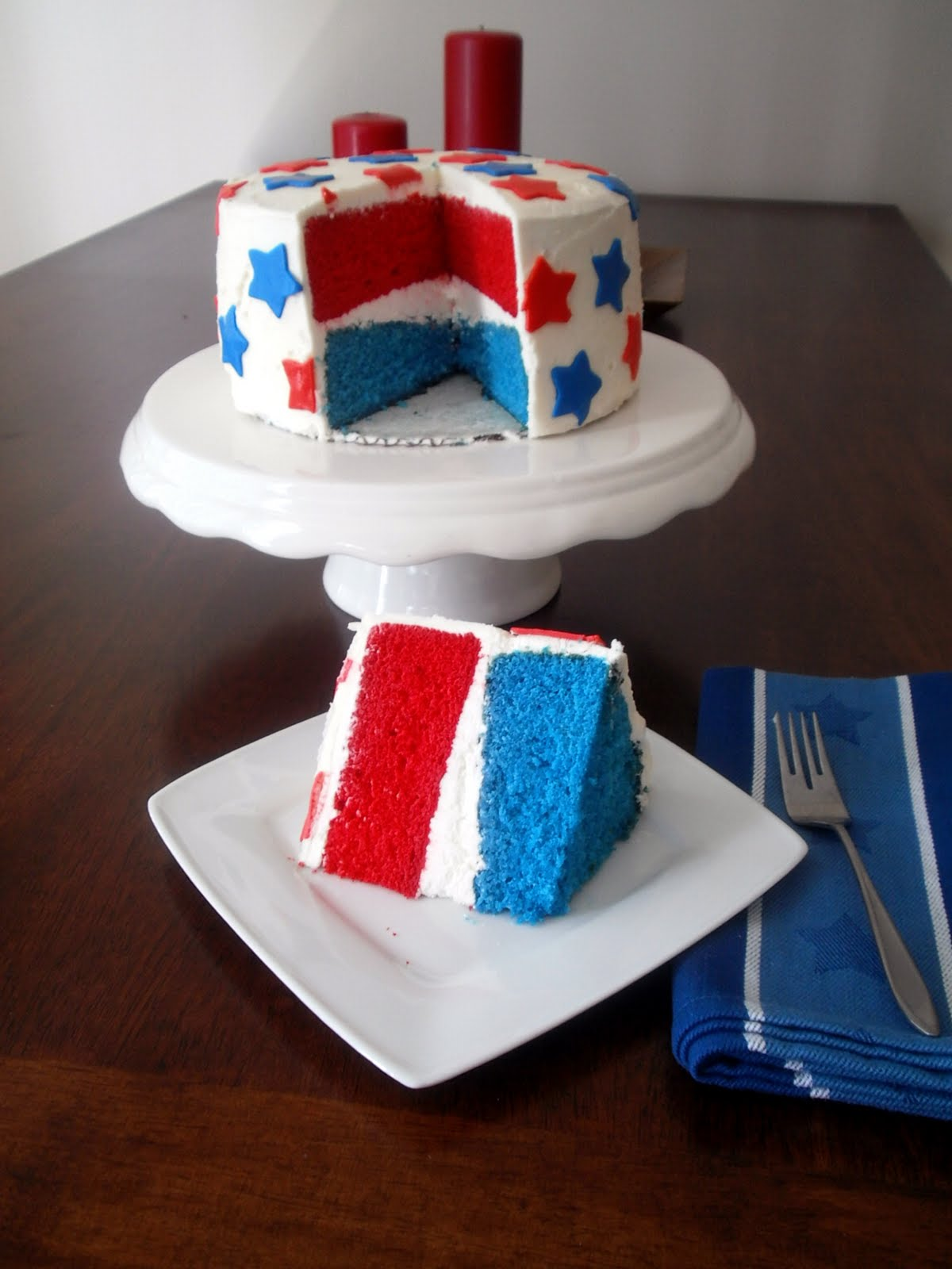 The Busty Baker Red White and Blue Cake