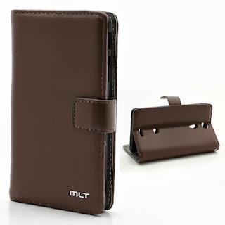 Leather Case Wallet Credit Card Slot Sony Xperia TX GX LT29i Hayabusa - Coffee