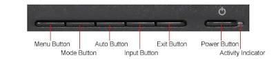 LG IPS231P-BN Widescreen LED Backlight LCD IPS Monitor Front Menu