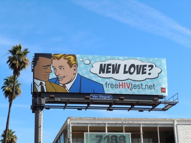 Gay New Love HIV test billboard