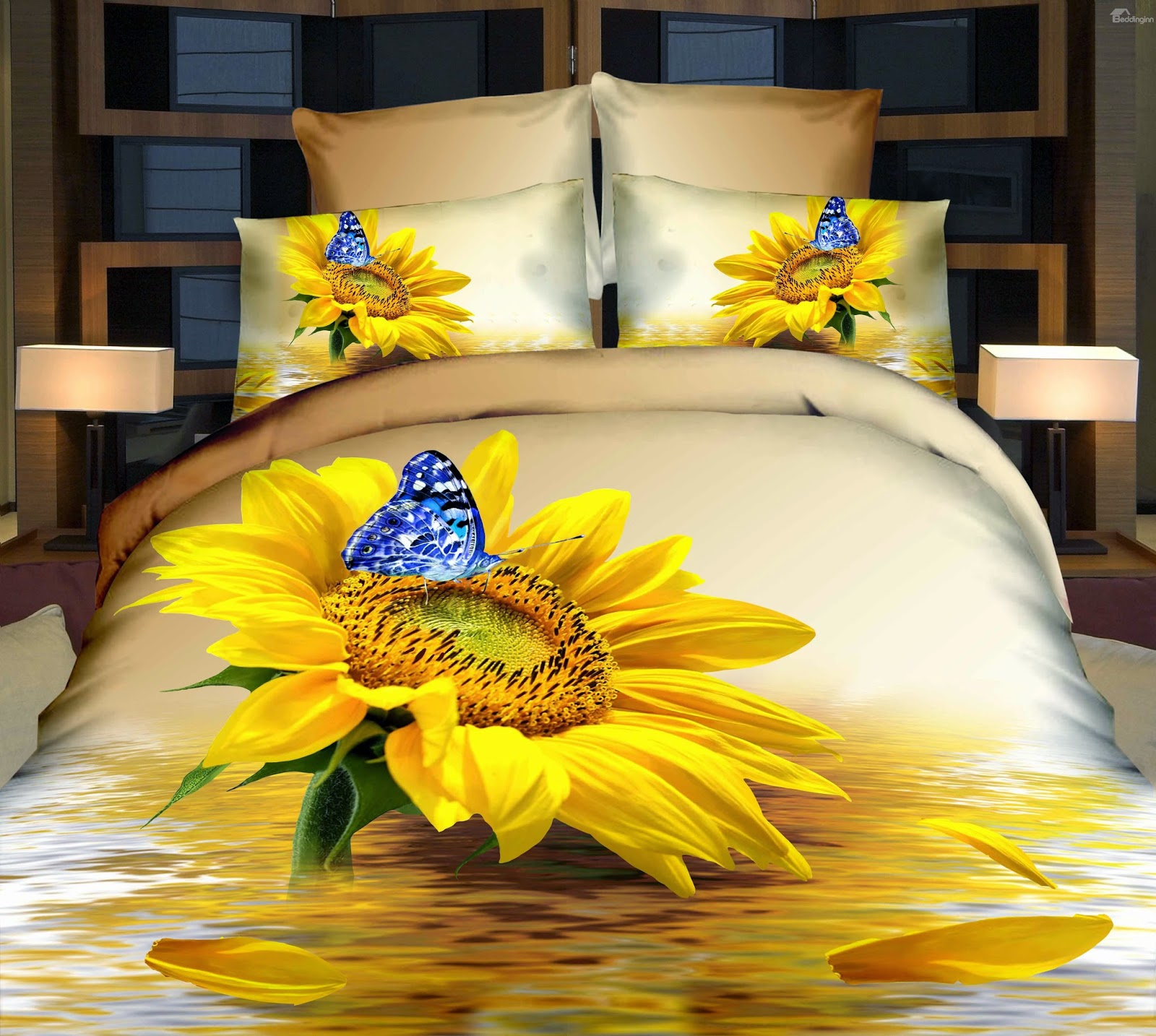 http://www.beddinginn.com/product/Charming-Sunflower-And-Blue-Butterfly-Print-4-Piece-Duvet-Cover-Sets-10987568.html