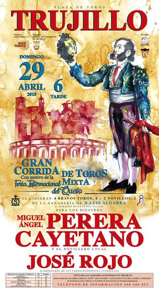TRUJILLO (ESPAÑA) 29-04-2018. CORRIDA DE TOROS MIXTA.