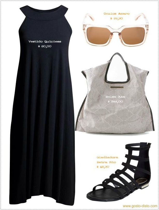 Como usar preto no verão - Look total black