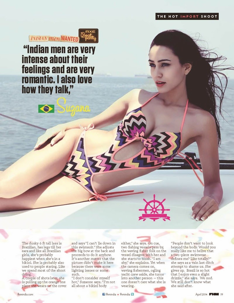 Ginevra, Suzana, Azura For FHM Magazine, India, April 2014