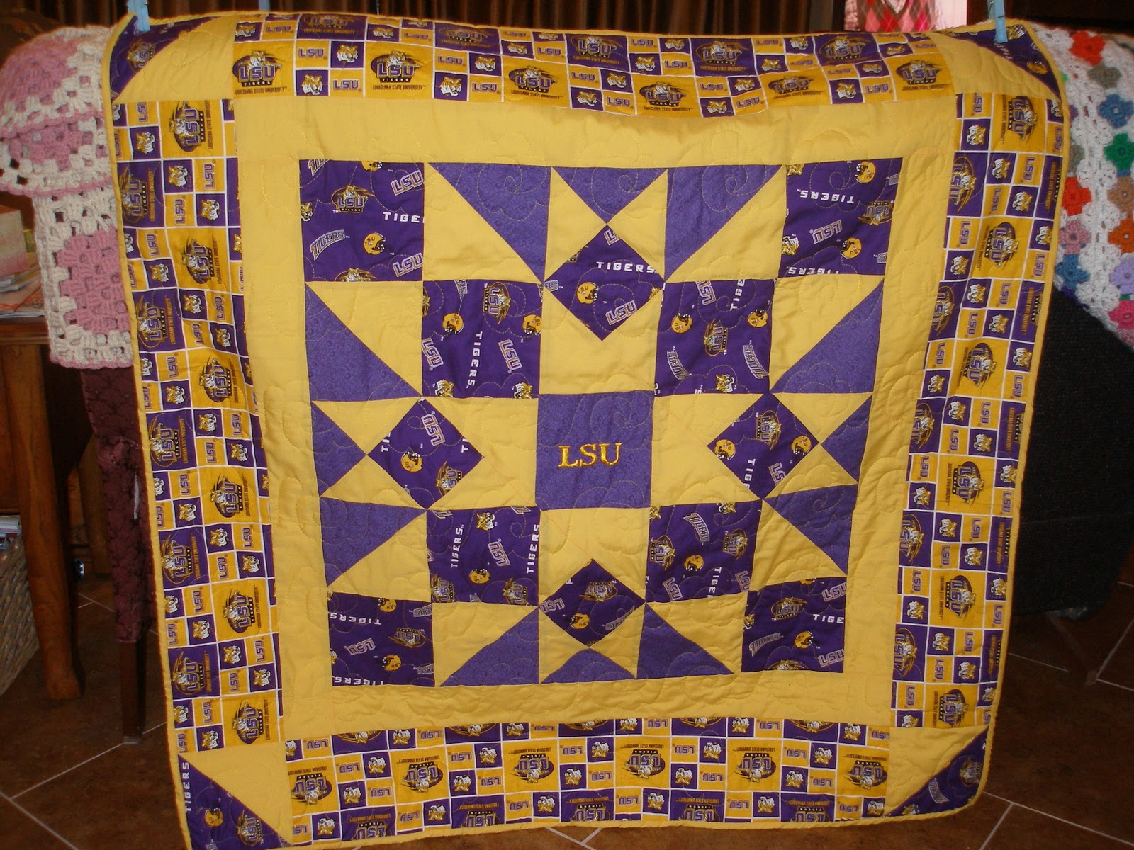 Beebee's Quilts And More: Two Lap Quilts With Local Sports