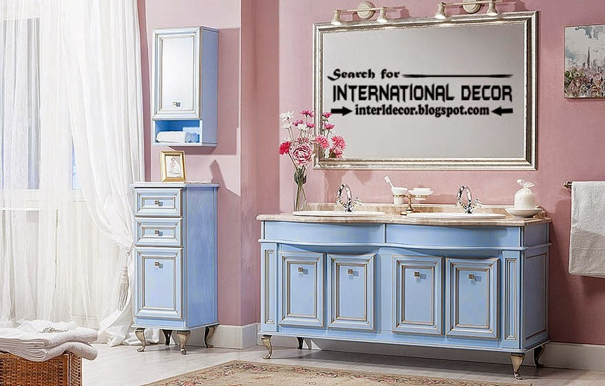 classic English style in the interior, English bathroom classic cabinets