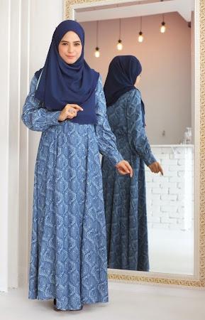 Year End Sale! Murah! Murah! Denim paisley Dress. Material Sangat Selesa Dan Menawan