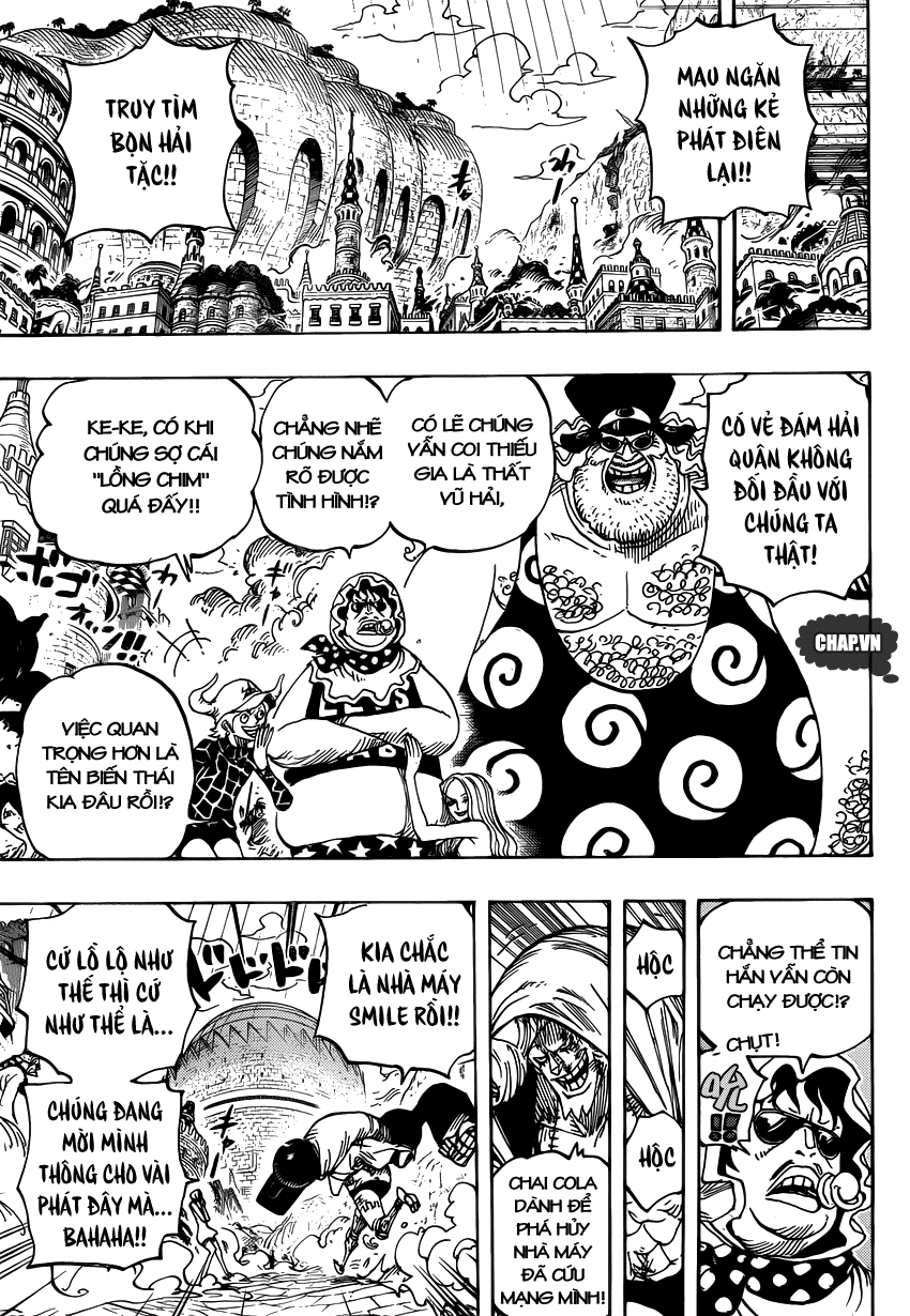 One Piece Chapter 747: Chỉ huy cấp cao Pica 010