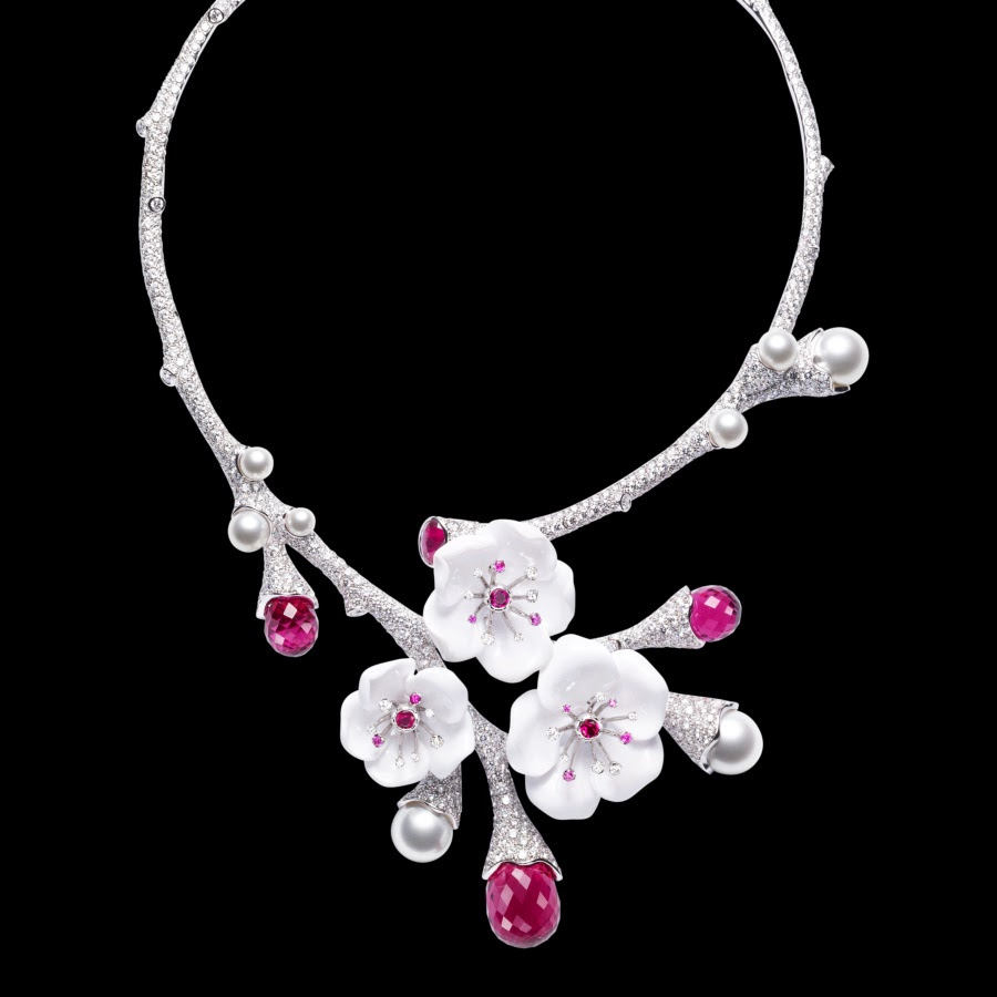 Pink tourmalines 18k white gold Necklace