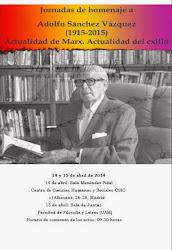 Jornadas de homenaje a Adolfo Sánchez Vázquez