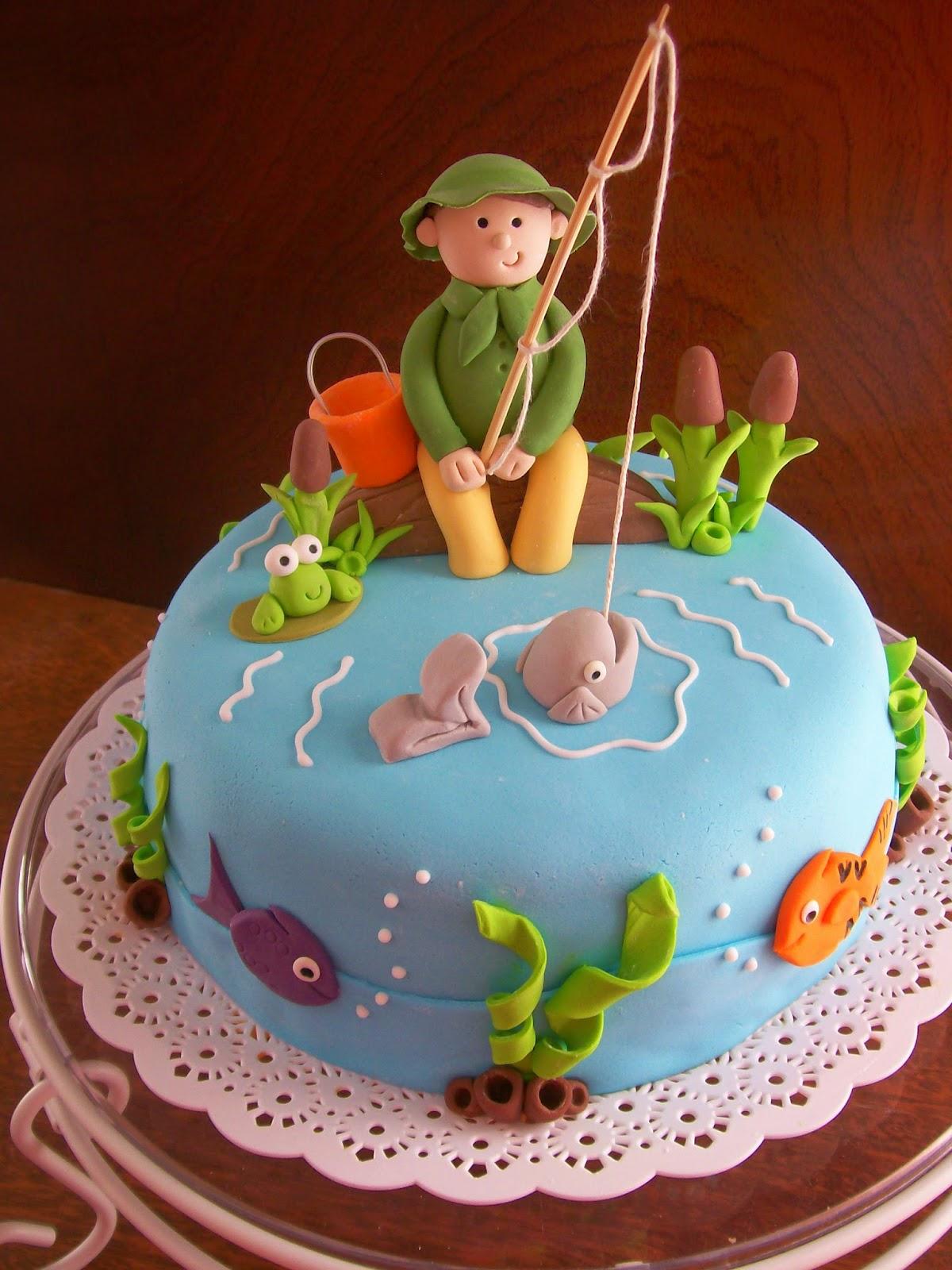 Dulces y colores de pesca for Como decorar una torta infantil