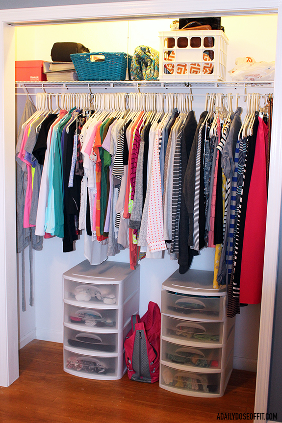 Organize your closet by asking yourself one question: Does this spark joy?