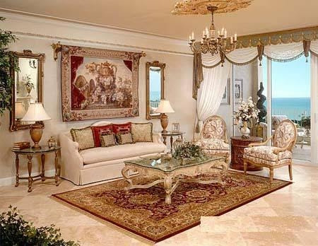 Classic Living Room Design Ideas With Window Curtains