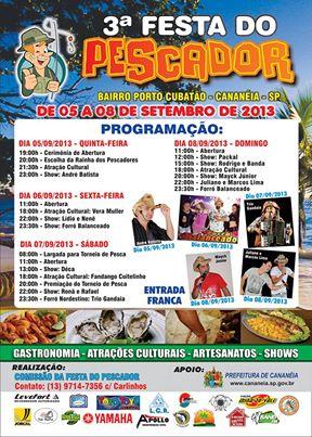 3ª Festa do Pescador - Bairro Porto Cubatão - Cananéia-SP