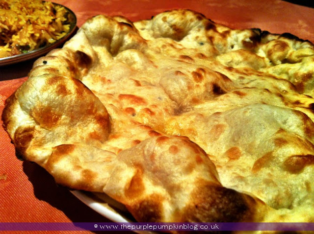 Naan Bread, Raj of India, Collier Row Review at The Purple Pumpkin Blog