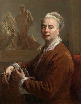 Nicolas de Largillière (1759-1838) Autoportrait en tenue d'atelier