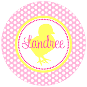 Light Pink Polka Dots and Yellow Easter Chick easter pink dots yellow chic
