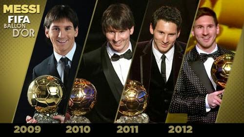 Penghargaan Lionel Messi FIFA Ballon D'OR