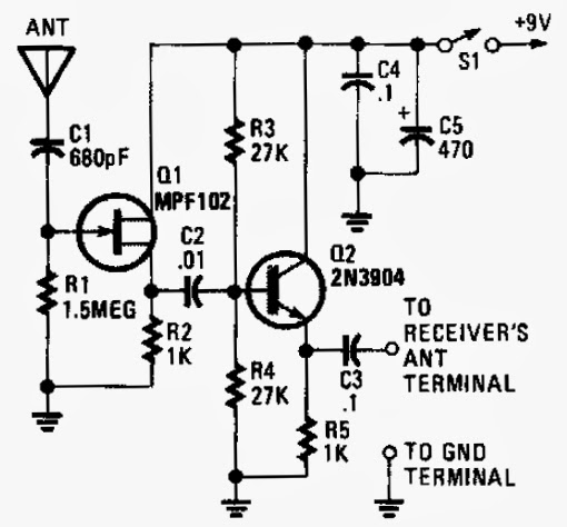 active antenna circuit schematic