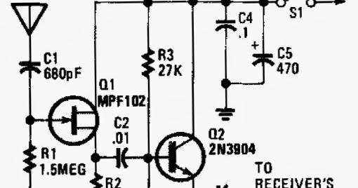 active antenna circuit schematic