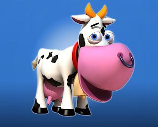 Funnny Cow Cartoon Desktop Wallpaper 1280x1024