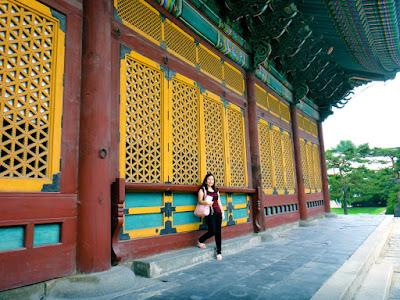 The yellow windows at Deoksugung Palace South Korea