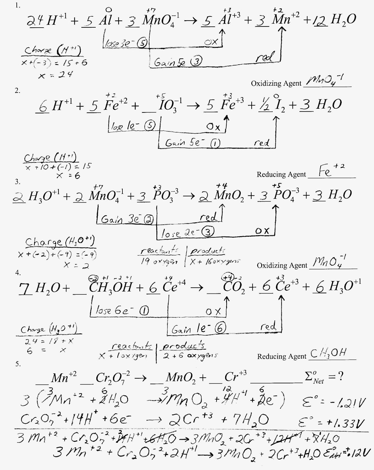 Mr Brueckners Chemistry Class HHS 201112 – Ideal Gas Law Worksheet Answers